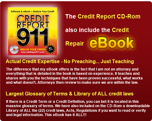 eBook for Credit Repair Credit Report 911